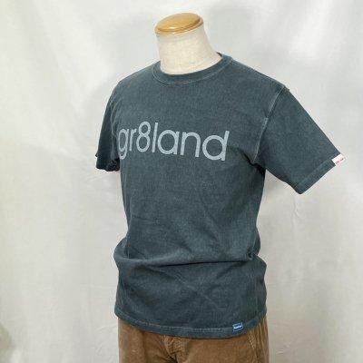 LT,gr8land LOGO  TEE カラー:BODY: P.SLATE PRINT: WHT