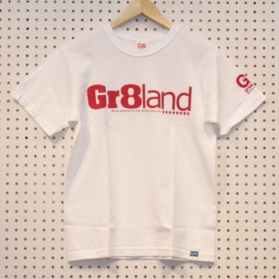 CLASSIC GR8LAND LOG TEE カラー:WHT/RED