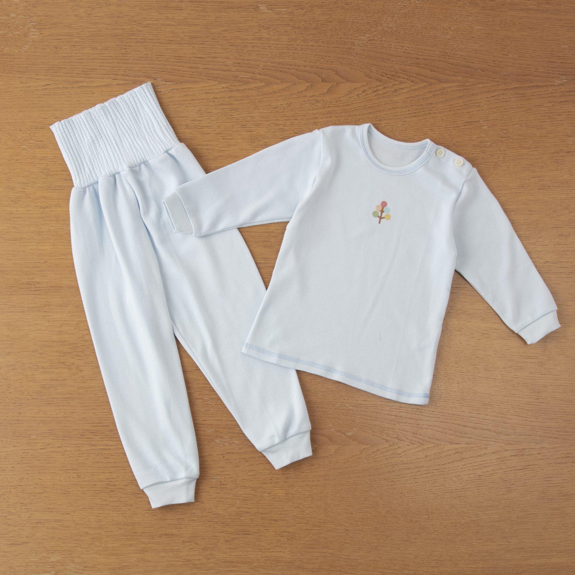 スマイルコットンベビー腹巻付パジャマ