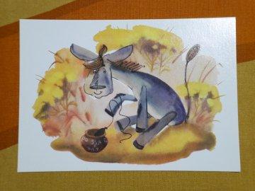 <img class='new_mark_img1' src='https://img.shop-pro.jp/img/new/icons6.gif' style='border:none;display:inline;margin:0px;padding:0px;width:auto;' />Russian Vintage Winnie the Pooh Postcard / ロシア製 くまのプーさん ビンテージ ポストカード/No.6
