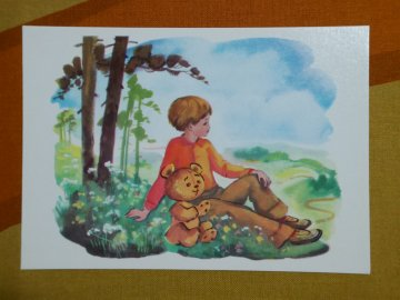 <img class='new_mark_img1' src='//img.shop-pro.jp/img/new/icons6.gif' style='border:none;display:inline;margin:0px;padding:0px;width:auto;' />Russian Vintage Winnie the Pooh Postcard / ロシア製 くまのプーさん ビンテージ ポストカード/No.16