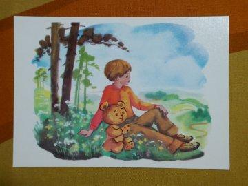 <img class='new_mark_img1' src='https://img.shop-pro.jp/img/new/icons48.gif' style='border:none;display:inline;margin:0px;padding:0px;width:auto;' />Russian Vintage Winnie the Pooh Postcard / ロシア製 くまのプーさん ビンテージ ポストカード/No.16