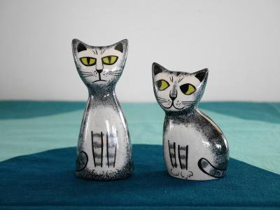 Cat Salt and Pepper Shekers by Hunnah...