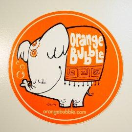 <img class='new_mark_img1' src='https://img.shop-pro.jp/img/new/icons6.gif' style='border:none;display:inline;margin:0px;padding:0px;width:auto;' />Stephan Britt Art Sticker (ORANGE BUBBLE Elephant) /スティーブン・ブリット アートステッカー