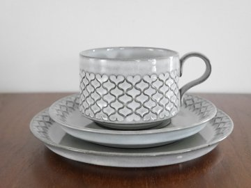 <img class='new_mark_img1' src='//img.shop-pro.jp/img/new/icons48.gif' style='border:none;display:inline;margin:0px;padding:0px;width:auto;' />NISSEN DENMARK Cordial Cup & Saucer ,Plate by Jens H.Quistgaard / ニッセン コーディアル カップ&ソーサーとプレート3点セット