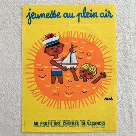 <img class='new_mark_img1' src='//img.shop-pro.jp/img/new/icons6.gif' style='border:none;display:inline;margin:0px;padding:0px;width:auto;' />HERVE MORVAN VINTAGE POSTER/エルベ・モルバン ヴィンテージポスター(ヨット)