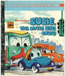 Susie, the Little Blue Coupe(リトルゴールデンブックD131_青い自動車)