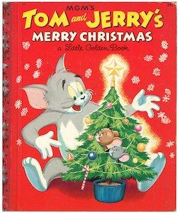 トムとジェリーのすてきなクリスマス|リトルゴールデンブック 表紙