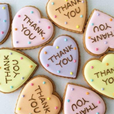 カラフルDot THANKYOUハートクッキー