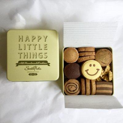 【在庫品】HappyLittleThings手しごとクッキー缶/スマイル