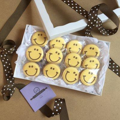 【在庫品】(箱入ギフト)Happy Mini Smileクッキー DOZEN