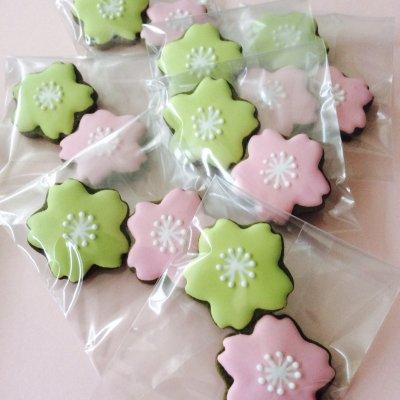 【在庫品】(季節限定)2色のミニ桜クッキー2枚入り5個セット