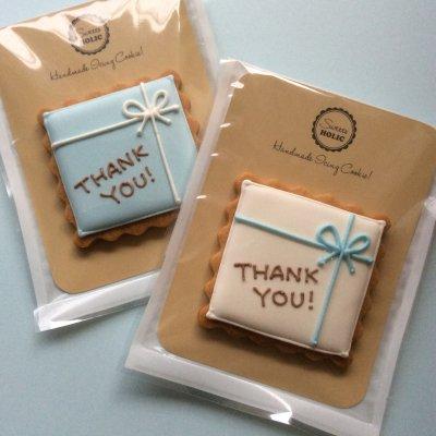 Blue Bow Gift Box サンクスギフトクッキー
