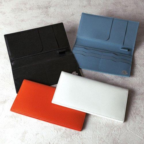 パスポートケース カーフ型押 ネイビー
