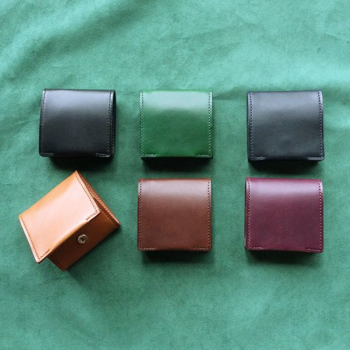 ボックス型コインケース イタリア製ヌメ革 【日本製 本革】