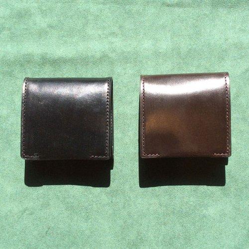 ボックス型コインケース イギリス製ブライドルレザー 小銭入れ 【日本製 本革】