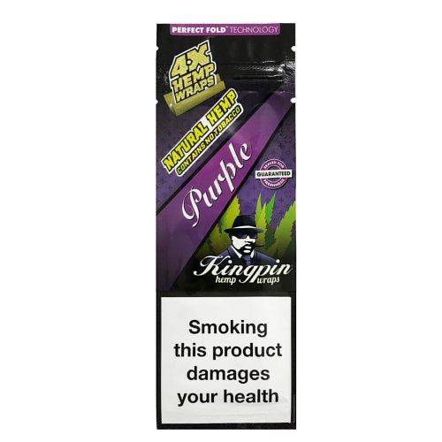 【メール便対応】 ヘンプラップ Kingpin Hemp Wraps - Purple グレープ 4枚入り