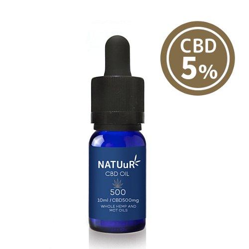 【送料無料】 NATUuR - CBD 5% Oil CBDオイル CBD500mg/10ml