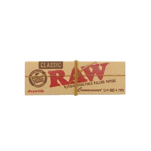 【メール便対応】 RAW CLASSIC 1 1/4サイズ チップ付き 76mm クラシック