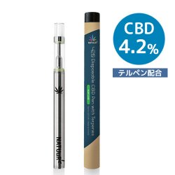 <img class='new_mark_img1' src='https://img.shop-pro.jp/img/new/icons58.gif' style='border:none;display:inline;margin:0px;padding:0px;width:auto;' />NATUuR - 420 Disposable CBD Pen with Terpenes CBD4.2% テルペン配合 使い捨てCBDペン