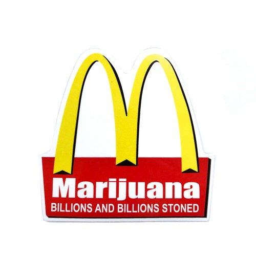 【メール便対応】 ステッカー - Marijuana Mc