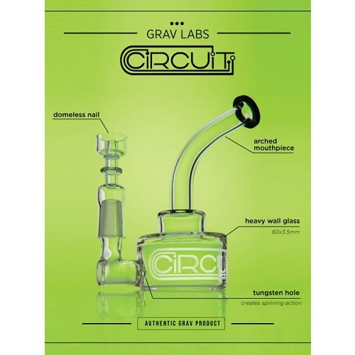 "GRAV Circuit / ""Turbo"" Collaboration Model 5inch Single Bubbler / 限定モデル / WAX & ハーブ 2way バブラー"