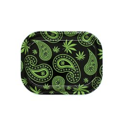 <img class='new_mark_img1' src='https://img.shop-pro.jp/img/new/icons58.gif' style='border:none;display:inline;margin:0px;padding:0px;width:auto;' />PAISLEY WEED METAL TRAY