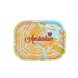 【メール便対応】 メタルローリングトレイ アムステルダムマップ