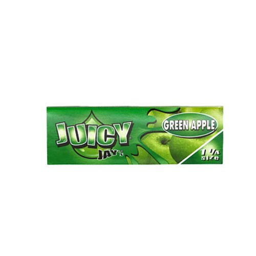 【ネコポス可】Juicy Jay's GREEN APPLE 1 1/4サイズ 77mm