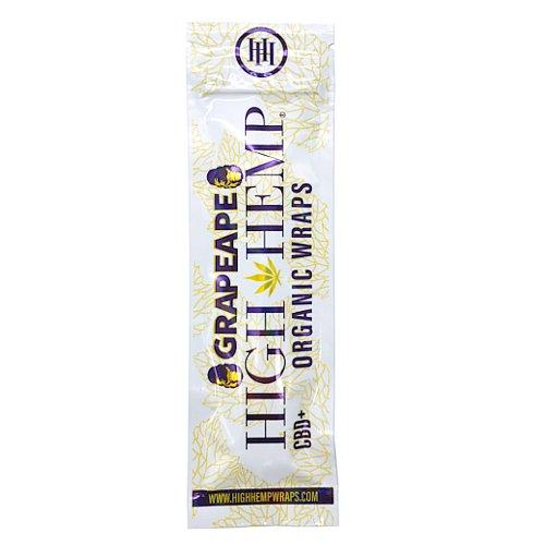 【メール便対応】 ヘンプラップ High Hemp Organic Wraps Grapeape グレープ 2枚入り
