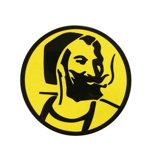 【メール便対応】 ステッカー - Zig-Zag Yellow