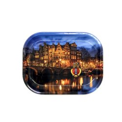 AMSTERDAM CANAL METAL TRAY