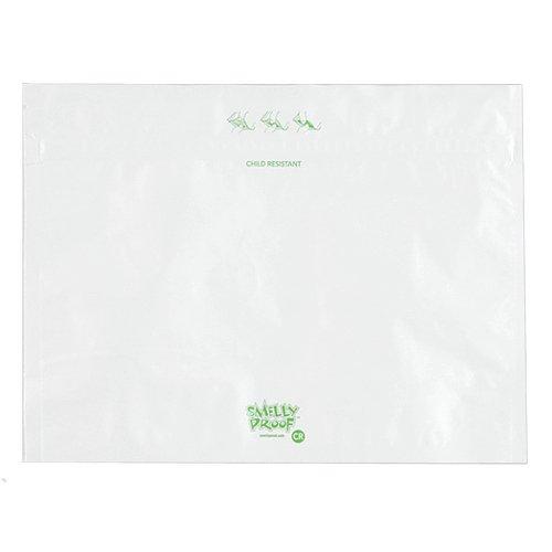 防臭ジップバッグ Smelly Proof Child Resitant Lサイズ(228×304mm) ホワイト
