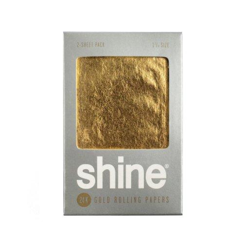 【メール便対応】 shine - 24K ゴールドペーパー 1 1/4サイズ 2枚入り 80mm