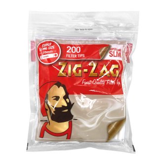 "ZIG-ZAG / ""SUPER LONG SLIM"" 200 Filter Tips / JAPAN LIMITED / 日本限定 スリムロング フィルター"
