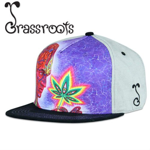 <img class='new_mark_img1' src='https://img.shop-pro.jp/img/new/icons39.gif' style='border:none;display:inline;margin:0px;padding:0px;width:auto;' /><30% OFF!> Grassroots × Alex Grey / Cannabis Sutra Fitted CAP
