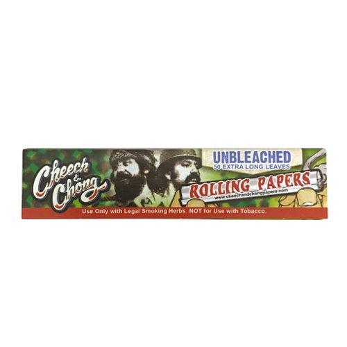 【メール便対応】 Cheech & Chong Unbleached キングサイズ スリム 108mm