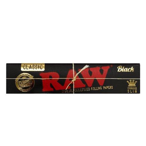 【メール便対応】 RAW BLACK キングサイズスリム 108mm ブラック