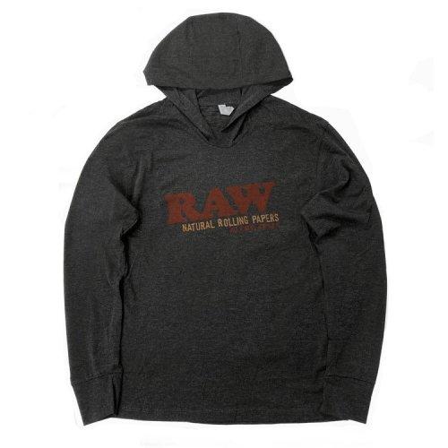 RAW - ライトウェイト 長袖Tシャツ フード付き