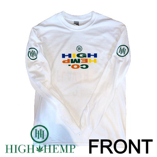 High Hemp - TECHNICOLOR ロゴ 長袖Tシャツ