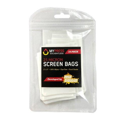 My Rosin Press / 25 Micron Screen Bags 10-Pack / 純正品プレススクリーンバッグ 10枚入り