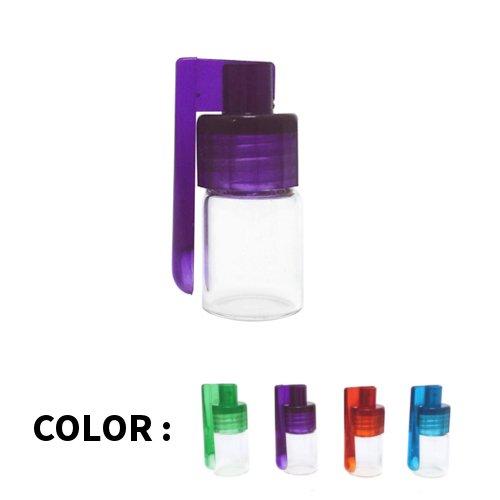 アクリルスプーン付きミニボトル / 嗅ぎタバコ用ボトル / Spoon Snuff Bullet Acrylic w Glass