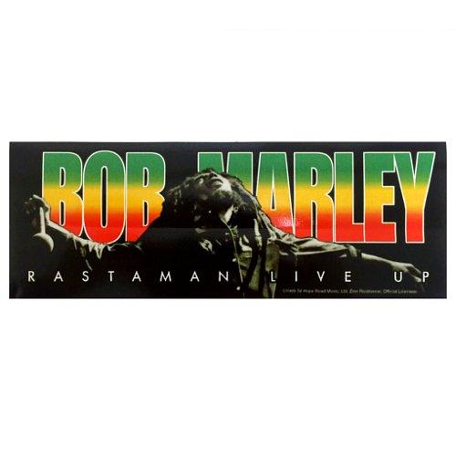 【メール便対応】 ステッカー - BOB MARLEY RASTAMAN LIVE UP