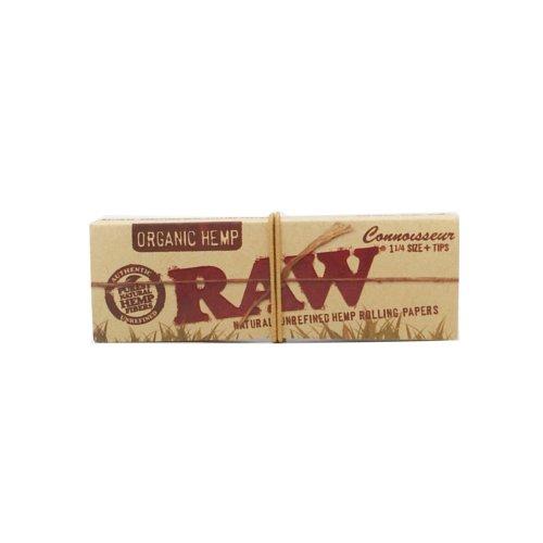 【メール便対応】 RAW ORGANIC HEMP 1 1/4サイズ チップ付き 76mm オーガニックヘンプ