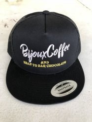 BijouxCoffee AND BEAN TO BAR CHOCORATE メッシュキャップ