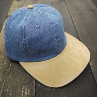 NO BRAND Plain Denim Cap/刺繡可