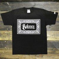 BALANCE STREET WEAR  BANDANA SCRIPT T-shirts[BLACK]