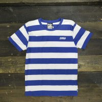 [CLEARANCE SALE/半額!!50%OFF!!]BALANCE STREET WEAR THE LOCK BORDER T-SHIRTS[WHT/BLUE]