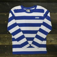 [CLEARANCE SALE/半額!!50%OFF!!]BALANCE STREET WEAR THE LOCK BORDER L/S T-SHIRTS[WHT/BLUE]