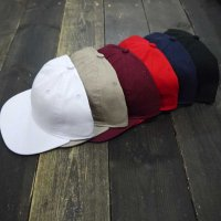 NEWHATTAN 1480 6PANEL UNCONSTRUCTURE FLAT VISOR CAP [6color] - オリジナル刺繍/プリント対応商品